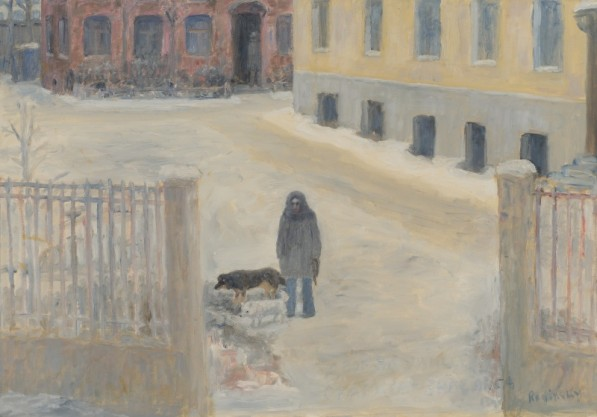 Marx-Engels Street (painter's wife with dogs)